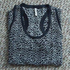 Joie silk leopard print tank top XS